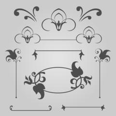 Сalligraphic elements set