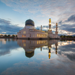 Reflection of Holy Mosque, Kota Kinabalu, Borneo