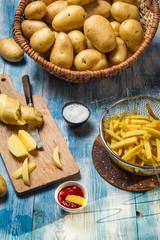 Fresh homemade French fries