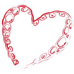 Herz gemalt Kringel - Liebe