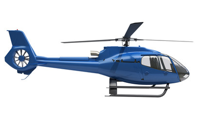 Modern helicopter isolated