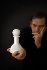 Thinking chess player