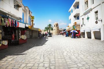 Fotobehang Tunesië Street in Sousse, Tunisia