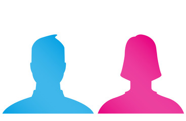 Male and female default profile pictures