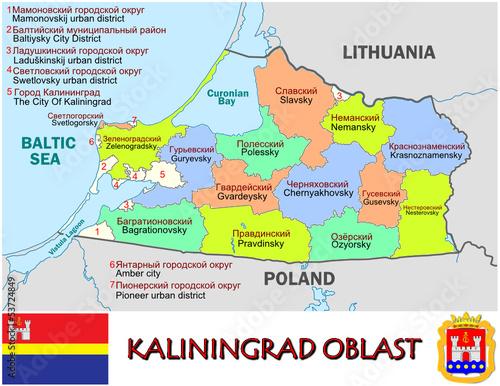Kaliningrad Russia Europe National Emblem Map Symbol Motto Stock