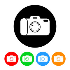 Camera Icon with Color Variations