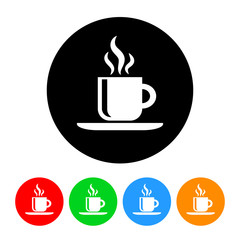 Coffee Icon with Color Variations