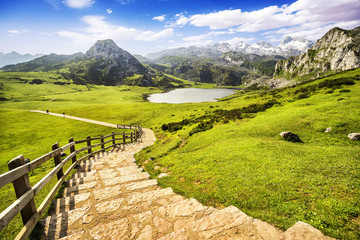 Lake Ercina, lakes of Covadonga, Asturias , Spain