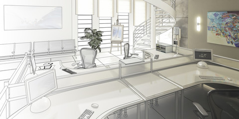 Modern Office Conception (draw)