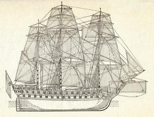 "Russian ship of the line ""Sviatoi Pavel"""