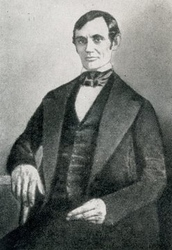 Abraham Lincoln (his first portrait, 1848)