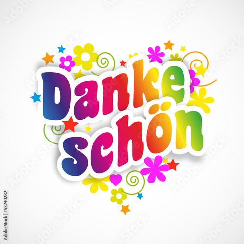 Картинки про, спасибо на немецком открытка