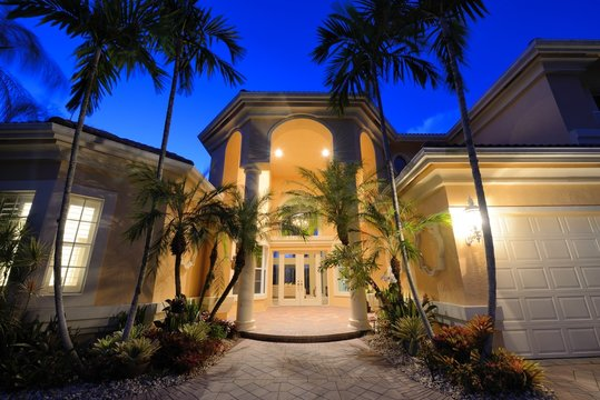 Tropical Home Entrance