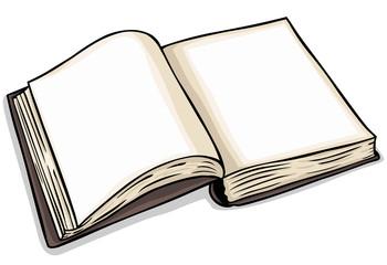 vector blank open book