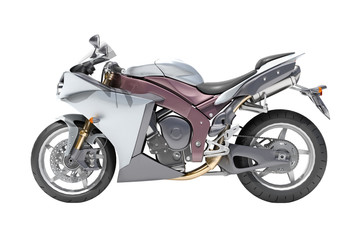 Powerful sportbike isolated