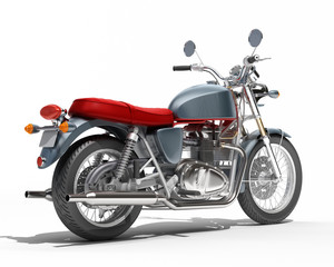 Classic motorcycle isolated