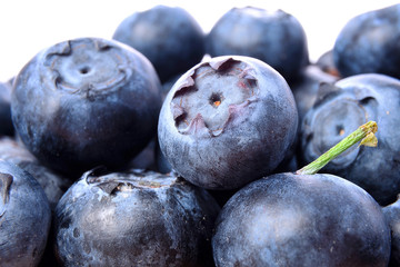 blueberries closeup, macro, isolated