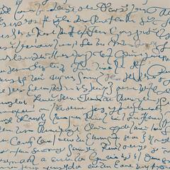 Handwriting / Seamless archaic letter