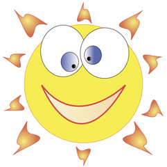 Funny sun illustration