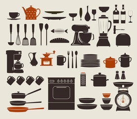 Kitchen Appliances, Utensils and Icons