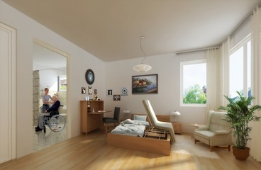 A visualization of an interior design