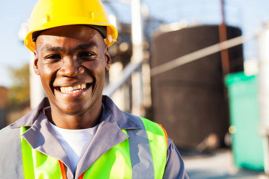 african american petrochemical worker portrait