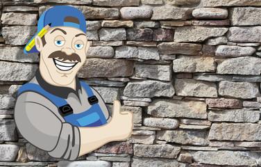 Mason worker.