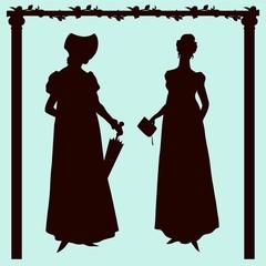 Empire style historic fashion women silhouettes