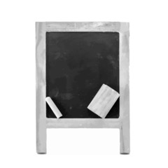 Gray empty black board