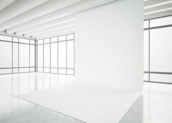 modern white office interior