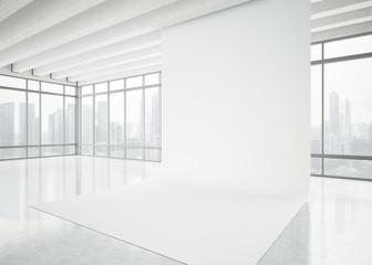 modern white office interior