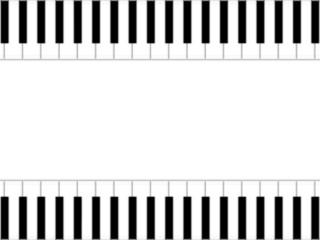 Moldura musical - teclado de piano