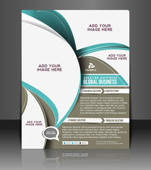 Vector business brochure, flyer, magazine