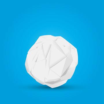 boules de papier froissé