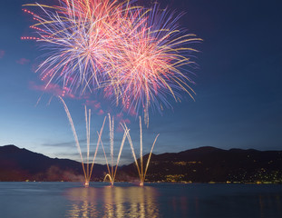 Fireworks on the Lake Maggiore, Luino
