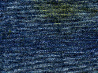 Denim Fabric Texture - Stained