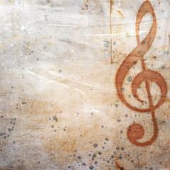 musical grunge background