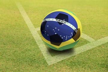 Brazil Ball on Green field