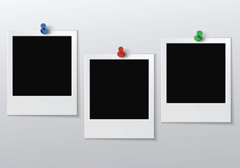 three blank photo