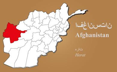 Afghanistan Herat hervorgehoben