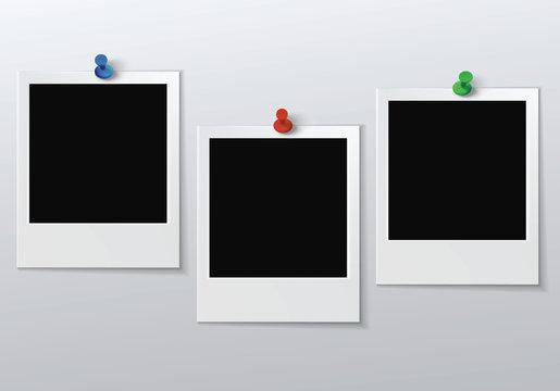 three blank photo