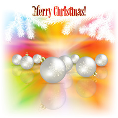 Abstract Christmas background with decorations