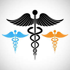 Colorful Medical Sign Caduceus