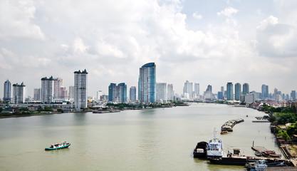 modern town in Bangkok, Thailand
