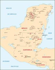 Mayaruinen Mittelamerika