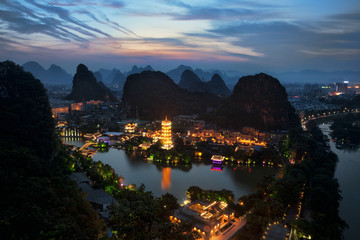 Zelfklevend Fotobehang Guilin Guilin China