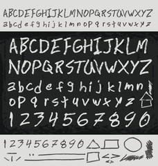 Unique handwritten letters