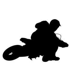Motocross Motorrad Vektor Illustration Silhouette