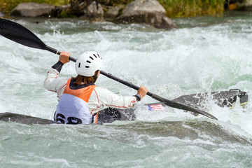 Fototapete - canoa race