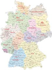 Wall Mural - Deutschland, Wahlkreise Bundestagswahl 2013